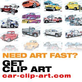 Hot Rod Vector Clip Art For Sale
